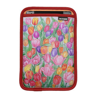 Colorful Tulips Drawing iPad mini 2/3 Soft Sleeve