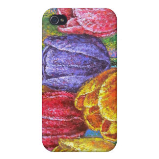 Colorful Tulips Flowers Painting Floral Art Multi Covers For iPhone 4