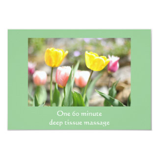 Colorful Tulips Gift Certificate Card