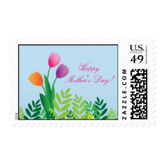 Colorful Tulips, Happy Mother's Day Postage Stamps