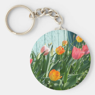 Colorful Tulips Keychain