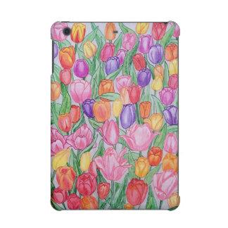 Colorful tulips protective iPad mini retina cover
