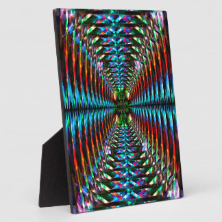 Colorful tunnel pattern plaque