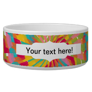 Colorful tunnel pet water bowl