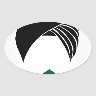 Colorful turbans or headgear oval sticker