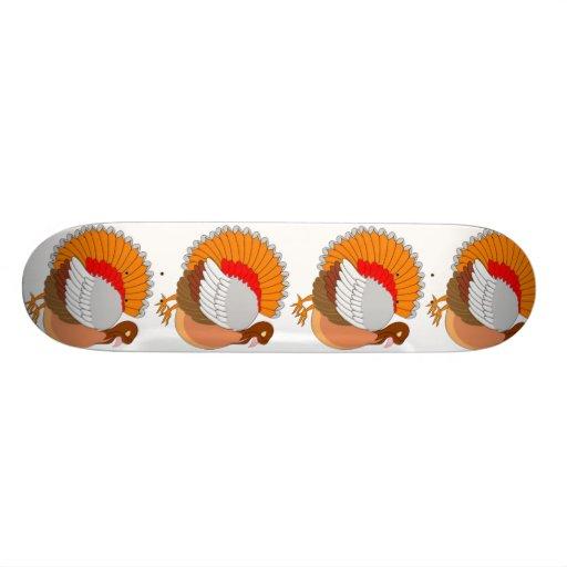 Colorful Turkey Skate Board