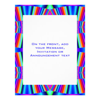 colorful turquoise blue personalized flyer