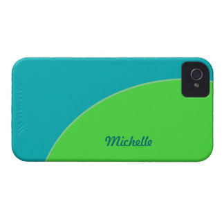 Colorful Turquoise Blue Green Modern Circle Case-Mate iPhone 4 Cases