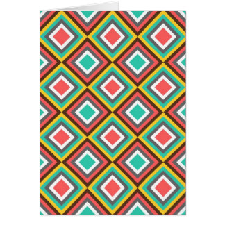 Colorful Turquoise Pink Aztec Native American Gift Card