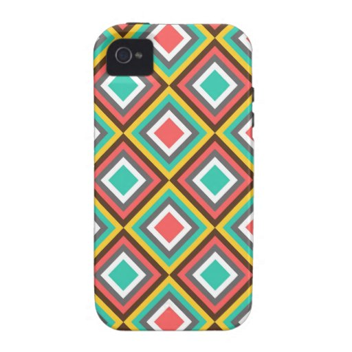 Colorful Turquoise Pink Aztec Native American Gift iPhone 4 Case