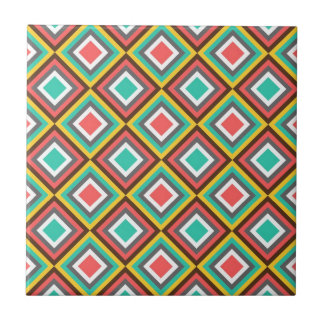 Colorful Turquoise Pink Aztec Native American Gift Ceramic Tile