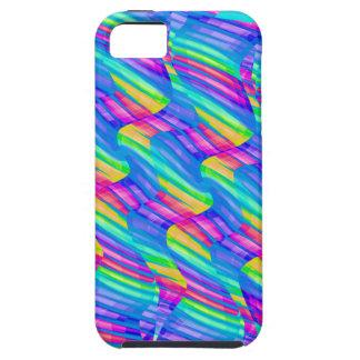 Colorful Turquoise Rainbow Wave Twists Artwork iPhone SE/5/5s Case
