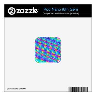 Colorful Turquoise Rainbow Wave Twists Artwork iPod Nano 6G Decal