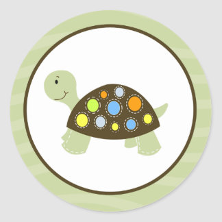 Colorful Turtle Envelope Seals / Toppers 20 Classic Round Sticker