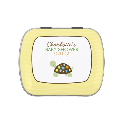 Colorful Turtle (Yellow) Candy Tin Favor