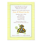 Colorful Turtles 5x7 Baby Shower Invite - Yellow