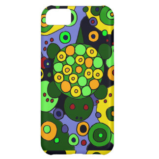 Colorful Turtles and Circles Abstract Art iPhone 5C Case