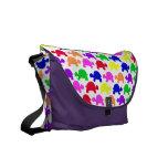 Colorful Turtles Rickshaw Messenger Bag