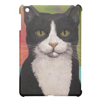 Colorful Tuxedo Cat iPad Case