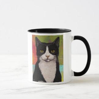 Colorful Tuxedo Cat Mug