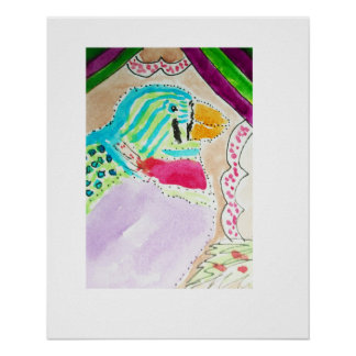 Colorful Tweet Bird Poster