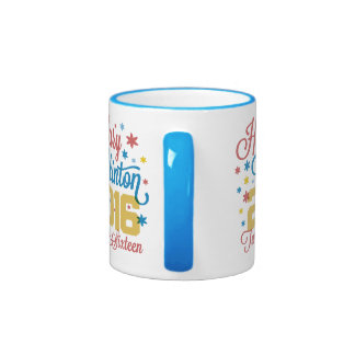 Colorful Twenty Sixteen Hillary Ringer Coffee Mug