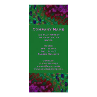 colorful twirls personalized rack card