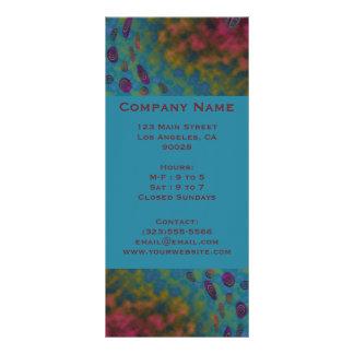 colorful twirls custom rack card