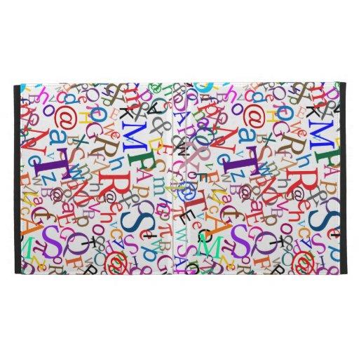 Colorful Typographic Art iPad Folio Case