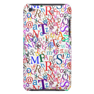 Colorful Typographic Art iPod Case-Mate Cases