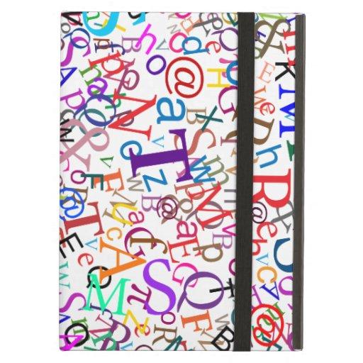Colorful Typographic Art iPad Case