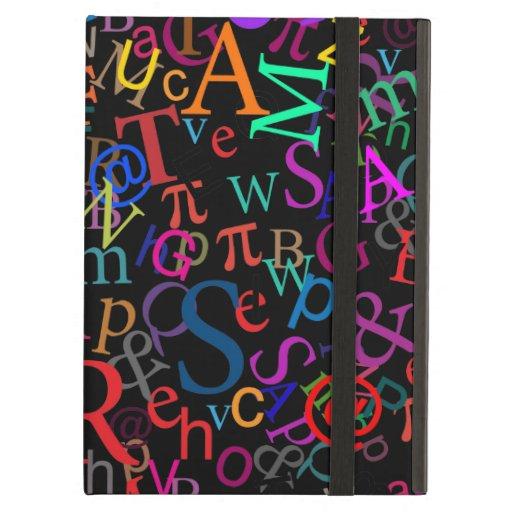 Colorful Typographic Art iPad Folio Cases