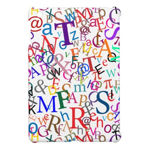 Colorful Typographic Art Cover For The iPad Mini