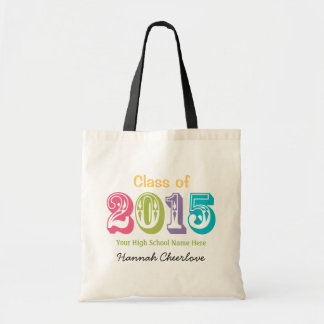 Colorful Typography Class of 2015 Budget Tote Bag