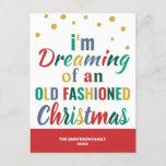 Colorful Typography Funny Goodbye 2020 Christmas Holiday Postcard
