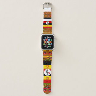 Colorful U G Crane Pattern Design Apple Watch Band