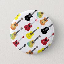 Colorful Ukulele Patterns Music Button