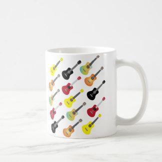 Colorful Ukulele Patterns Music Coffee Mug