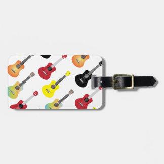 Colorful Ukulele Patterns Music Travel Bag Tags
