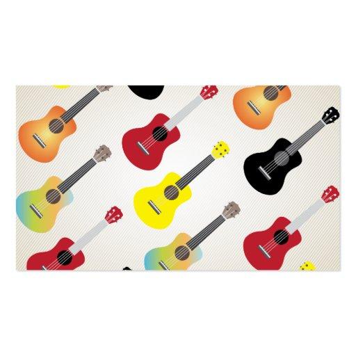 Colorful Ukulele Patterns Uke Artist Business Card