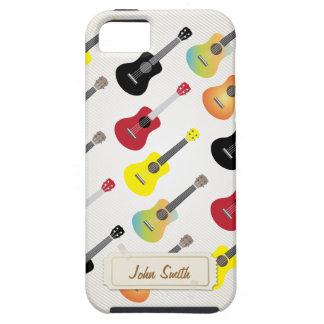 Colorful Ukuleles with Custom Name iPhone 5 Case