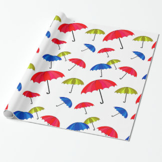 Colorful Umbrella Wrapping Paper