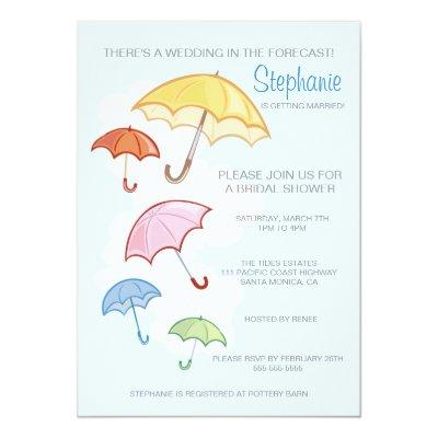 pink umbrella bridal or baby shower invitation zazzlecom