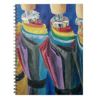 Colorful Umbrellas Spiral Notebook