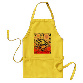 Colorful Under the Sea Bubbly Fish Swimming Mosaic Adult Apron