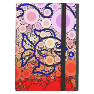 Colorful Under the Sea Bubbly Fish Swimming Mosaic iPad Air Cover