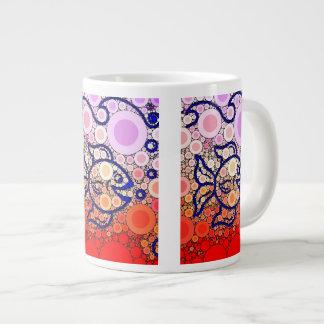 Colorful Under the Sea Bubbly Fish Swimming Mosaic Large Coffee Mug
