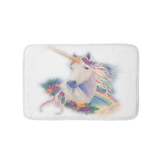Colorful unicorn bathmat
