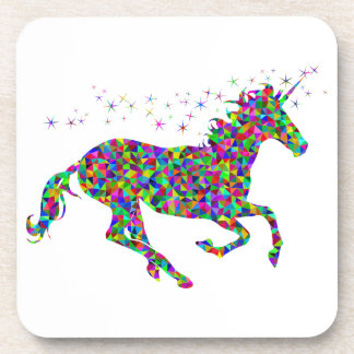 Colorful Unicorn Beverage Coaster