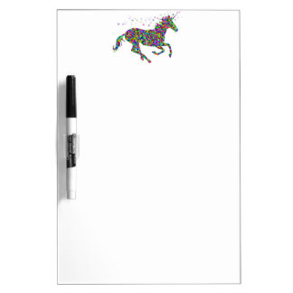 Colorful Unicorn Dry-Erase Board